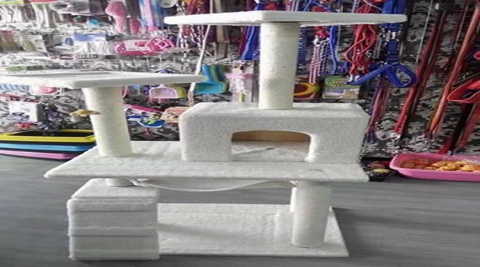 Wooden Cat Tower - Pet Accessories - Pet Store - Pet supplies