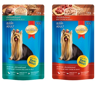 Smartheart Dog Pouch Beef, Chicken Chunk In Gravy / Chicken & Liver In Jelly