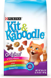 Purina Kit & Kaboodle Brand Cat Food Original  - 4 Taste Flavors 1.40kg