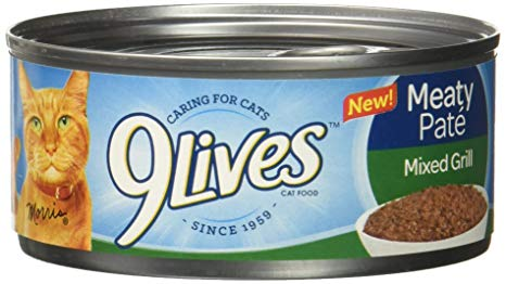 9Lives Meaty Pate Wet Cat Food All Flavors Tins - Pet Food - Pet Store - Pet supplies