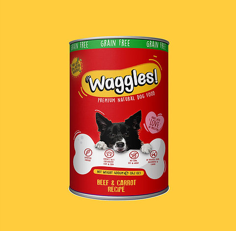 Waggles Beef & Carrot Recipe 400g - Pet Food - Pet Store - Pet supplies