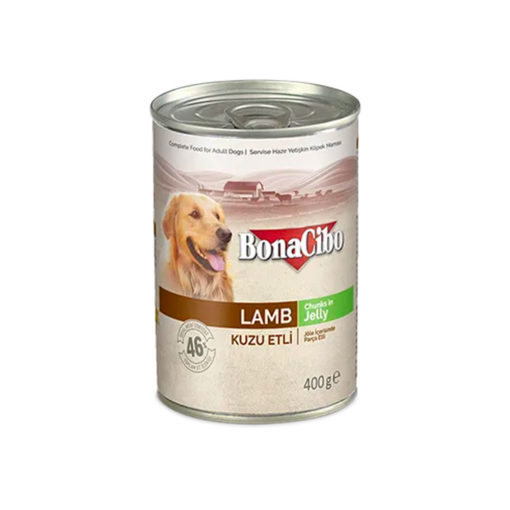 Bonacibo Wet Food for Dogs in Can – Lamb Meat in Jelly - Pet Food - Pet Store - Pet supplies
