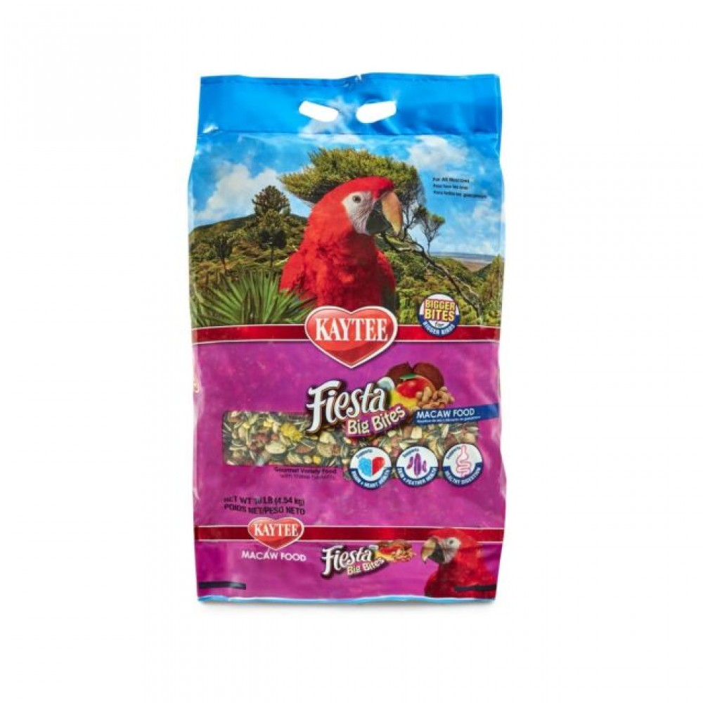 Kaytee Fiesta Big Bite Macaw Parrot - 4.5 kg Bird Food