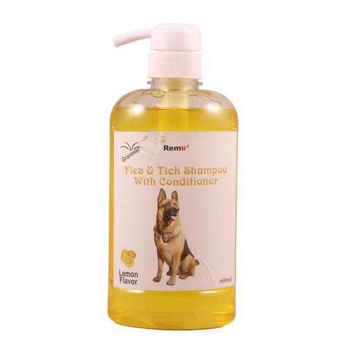 Groomer Shampoo Flea & Tick with Conditioner – Lemon – 600ml - Pet Accessories - Pet Store - Pet supplies