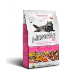 MONELLO ADULT CAT FOOD – SALMON CHICKEN and TUNA – 1 KG