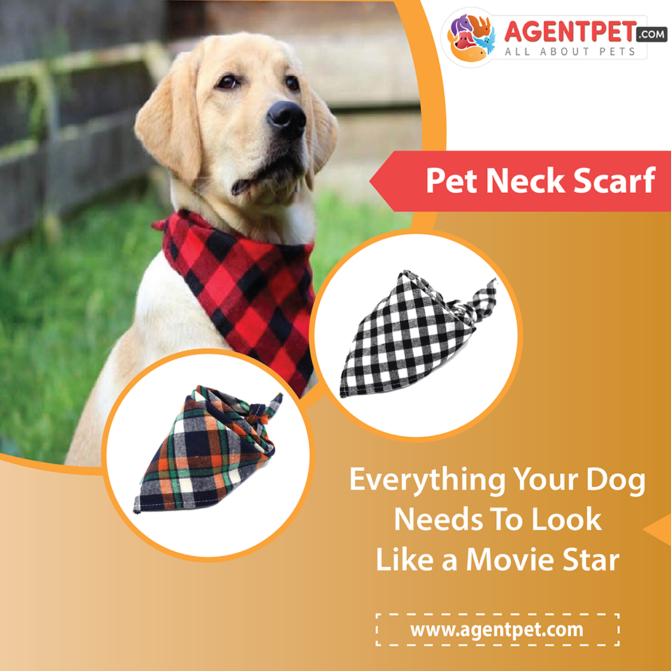 Pet Dog Cat Neck Scarf Adjustable Dog Bandana Cotton Plaid Cleaning Towel For Dog Cat Cats Grooming Accessories