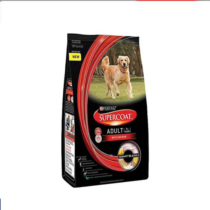Purina Dog Food Supercoat Adult All Breed Chicken