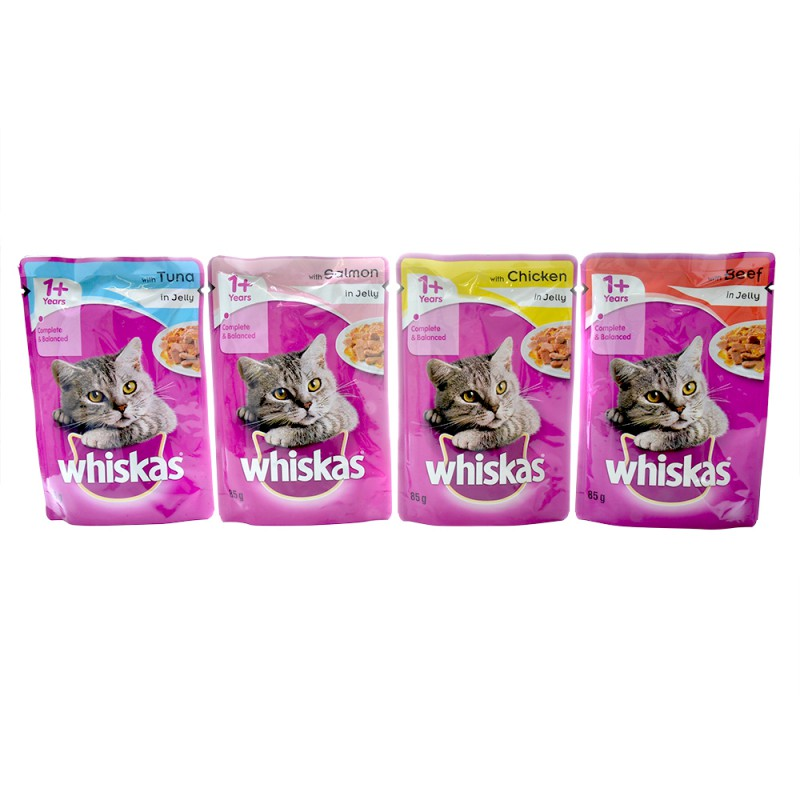 Whiskas Cat Jelly Pouches 85g - Pet Food - Pet Store - Pet supplies