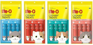 Me-O Creamy Cat Treats Chicken / Liver / Salmon / Bonito / Crab - Pack Of 4 Treats - Pet Food - Pet Store - Pet supplies