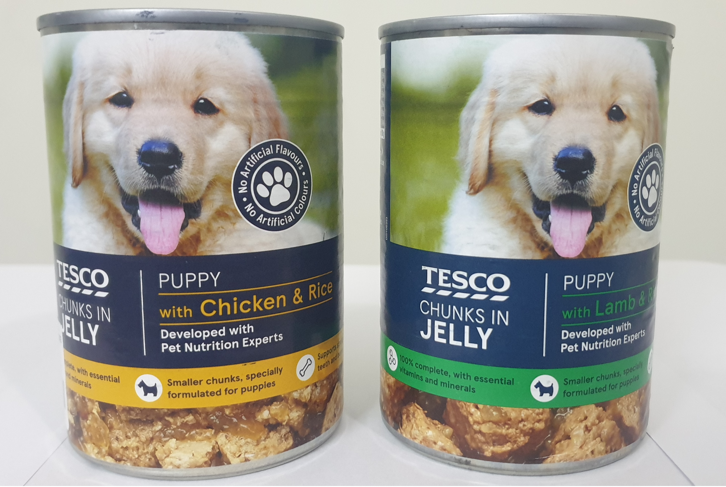 Tesco Chunks In Jelly For Puppy In Chicken / Beef / Lamb / Lamb & Rice / Beef & Rice 400g - Pet Food - Pet Store - Pet supplies