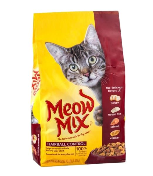 Meow Mix Cat Food Hairball Control - Pet Food - Pet Store - Pet supplies