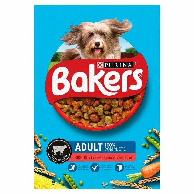 Purina Bakers Meaty Meals Beef Dry Adult and Small Dog Food 1 Kg