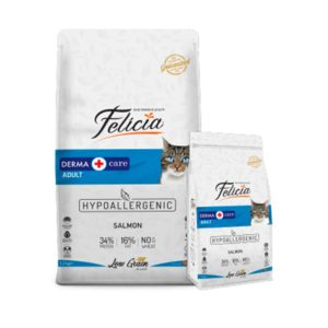 Felicia Low Grain Sterilized Derma Cat Food With Salmon-12kg