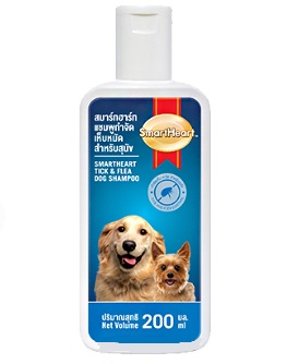 Smartheart Shampoo Tick And Flea - 200 ml Dog Cat