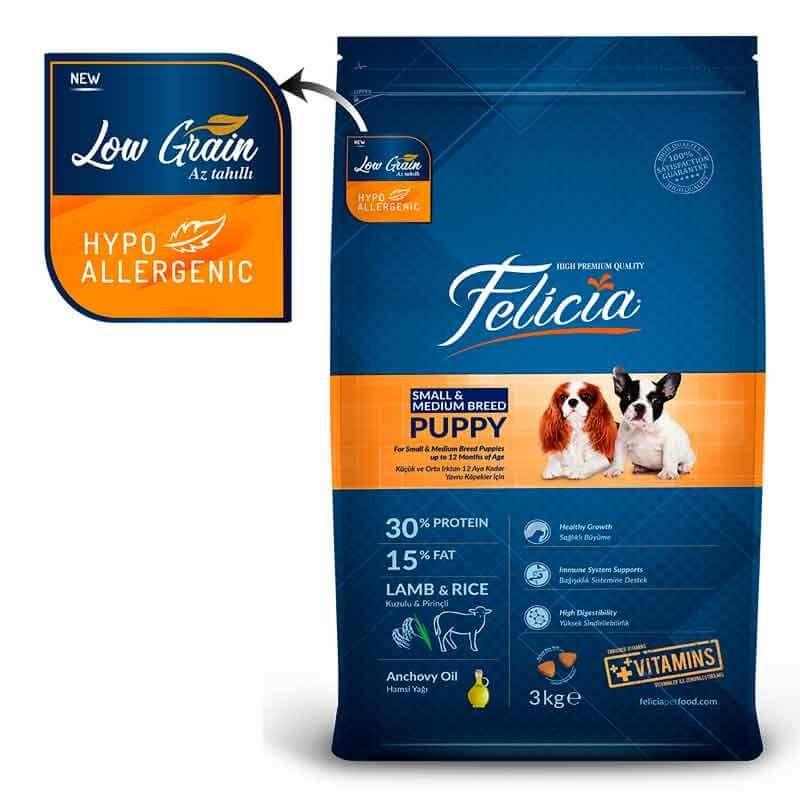 Felicia Puppy Small-Medium Breed lamb Rice-3kg - Pet Food - Pet Store - Pet supplies