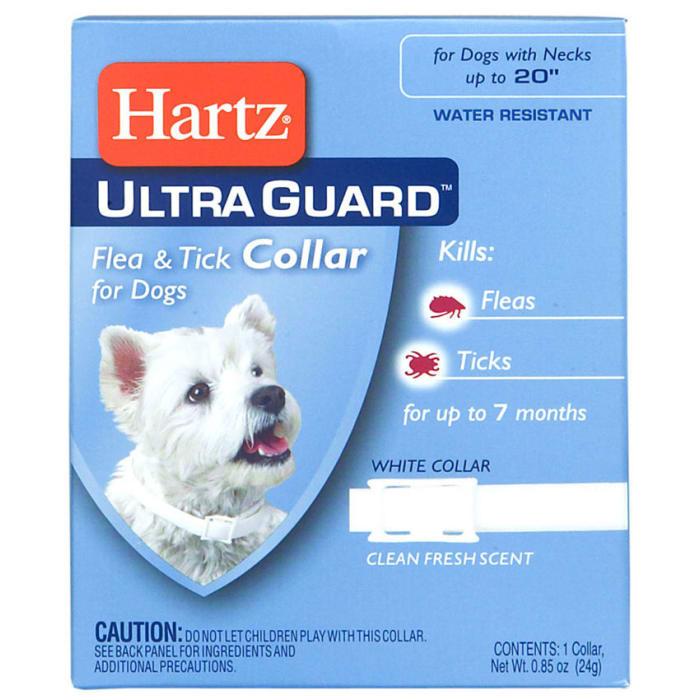 Hartz Flea & Tick Collar for Dogs White Fresh Scent - Pet Accessories - Pet Store - Pet supplies