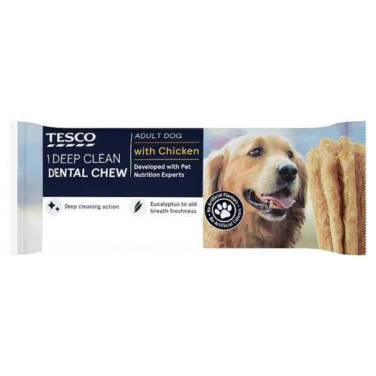 Tesco Deep Clean Dental Chew Adult Dogs With Chicken 100g