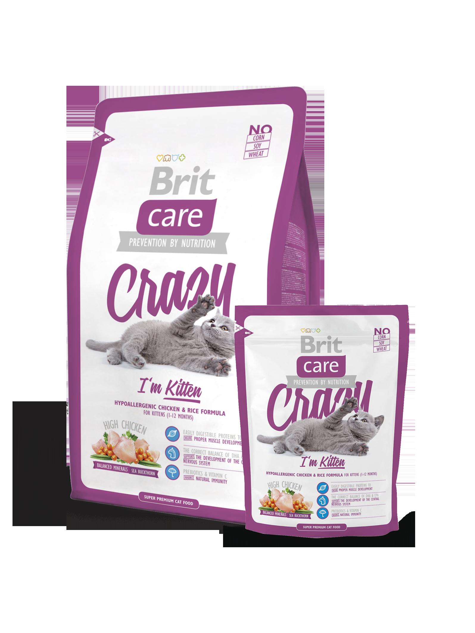 Brit Care Cat Crazy I'm Kitten 2kg - Pet Food - Pet Store - Pet supplies