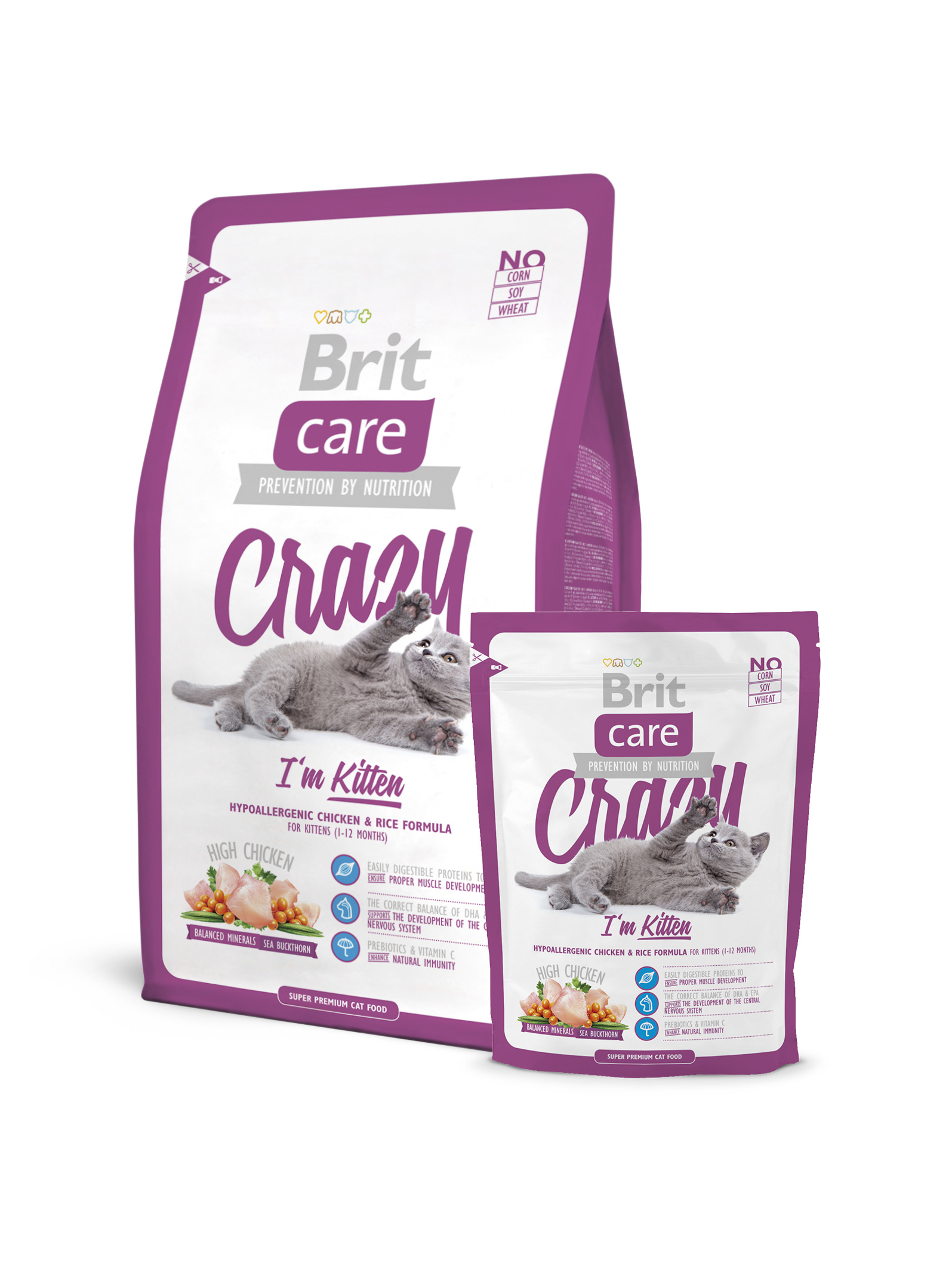 Brit Care Cat Food Crazy I'm Kitten 2kg - Pet Food - Pet Store - Pet supplies