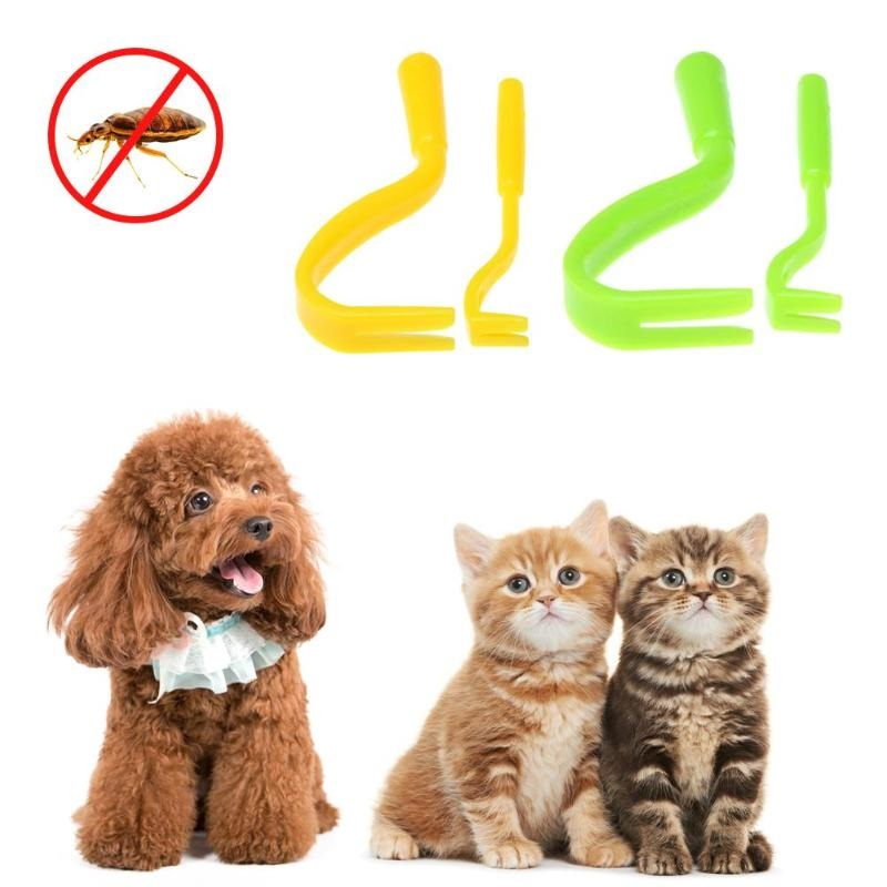 2pcs/set Dog Accessories Pet Cat Tick Remover Hook Twister Tool Human Horse Pet Comb Tools - Pet Accessories - Pet Store - Pet supplies