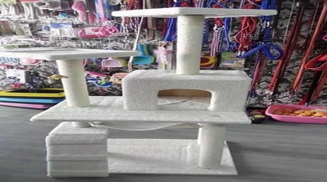 Wooden Cat Tower - Pet Accessories - Pet Store - Pet supplies