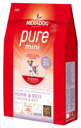 Mera Dog Pure Mini (Small Adult Breed) - 7.5 kg - Pet Food - Pet Store - Pet supplies