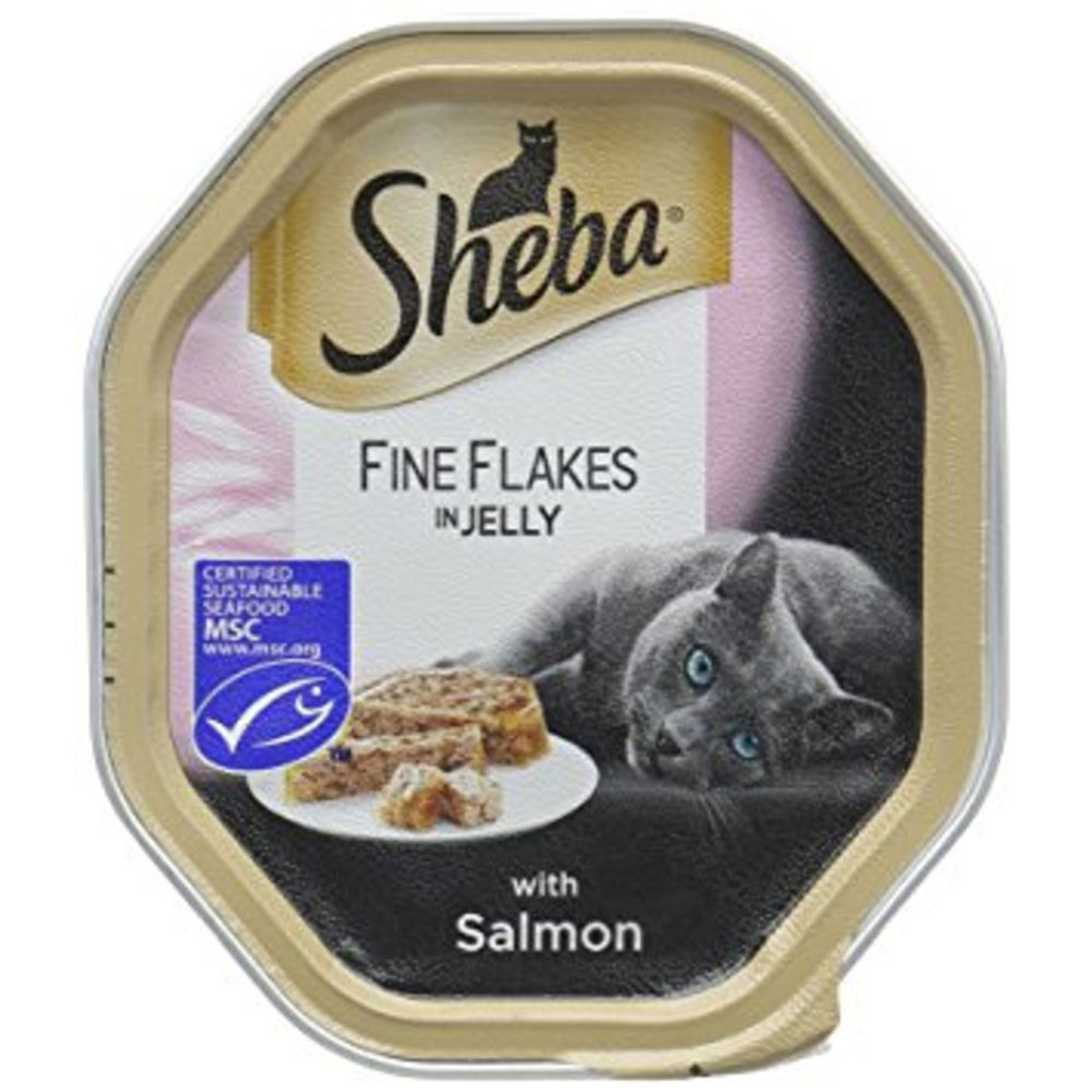 Sheba Fine Flakes In Jelly With Salmon Pouches 85g