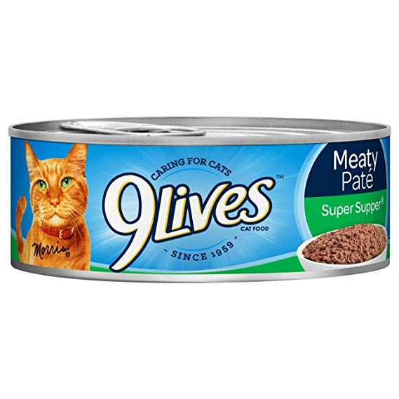 9Lives Meaty Pate Wet Cat Food All Flavors Tins