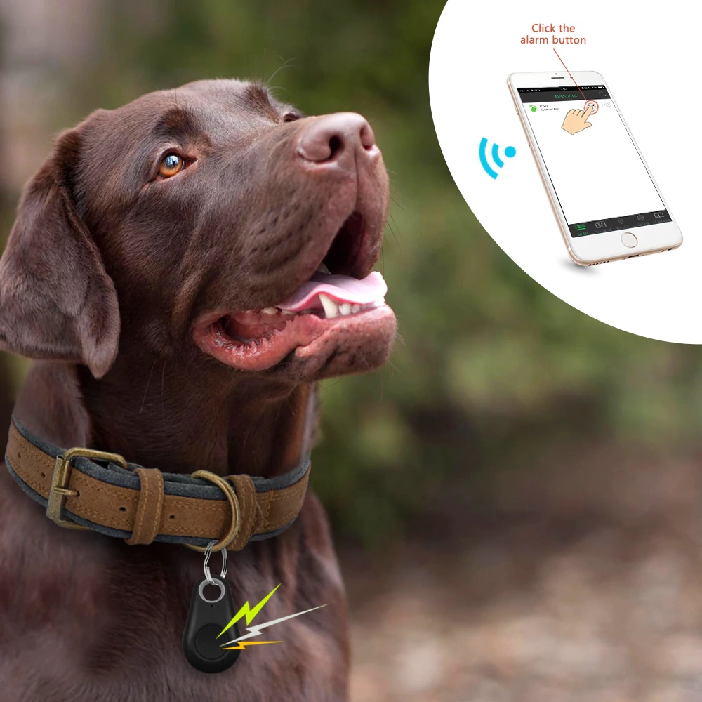 GPS Tracker Mini Anti-Lost Waterproof Bluetooth Locator Tracer For Pet Dog Cat Kids Car - Pet Accessories - Pet Store - Pet supplies