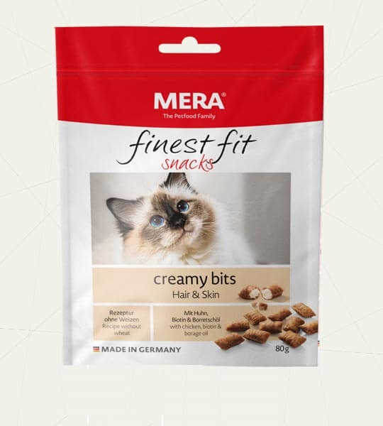 Mera Finest Fit Creamy bite ( Cat Snack ) 80g Hair & Skin - Pet Food - Pet Store - Pet supplies