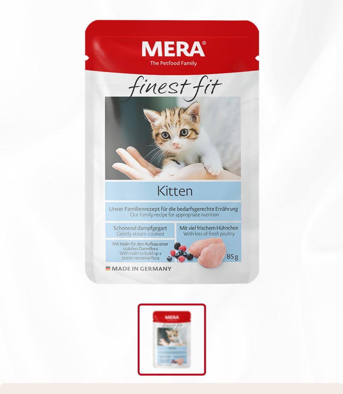 Mera Finest Fit Creamy bite ( Cat Snack ) 80g Kitten - Pet Food - Pet Store - Pet supplies