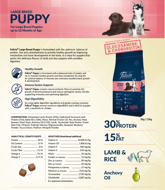 Felicia Puppy Large Breed Lamb Rice - Pet Food - Pet Store - Pet supplies
