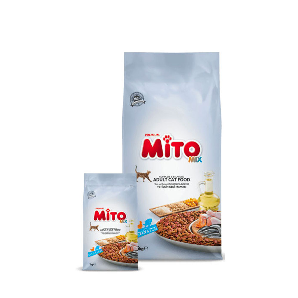 Premium Mito Mix Cat Food in Chicken n Fish – 1 KG - Pet Food - Pet Store - Pet supplies