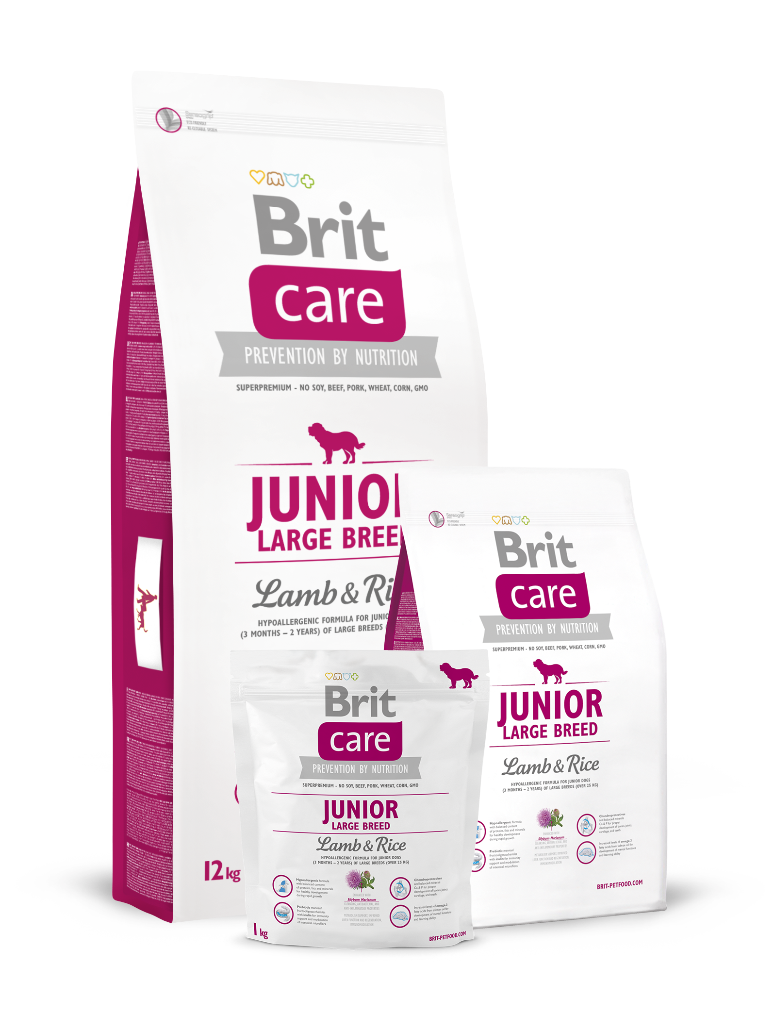 Brit Care Dog Food Junior Large Breed Lamb and Rice