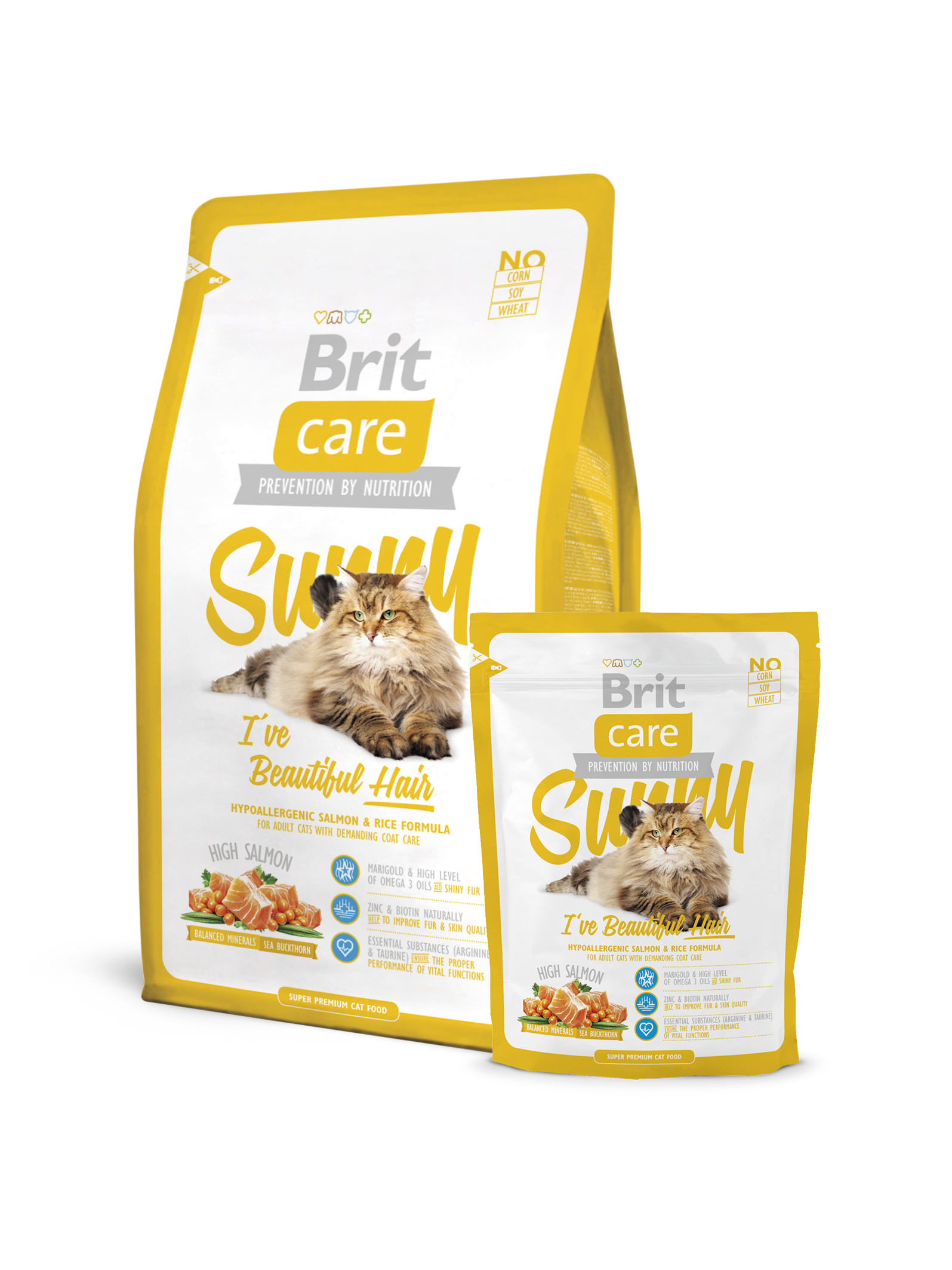 Brit Care Cat Food Sunny I've Beautiful Hair 400 G - Pet Food - Pet Store - Pet supplies