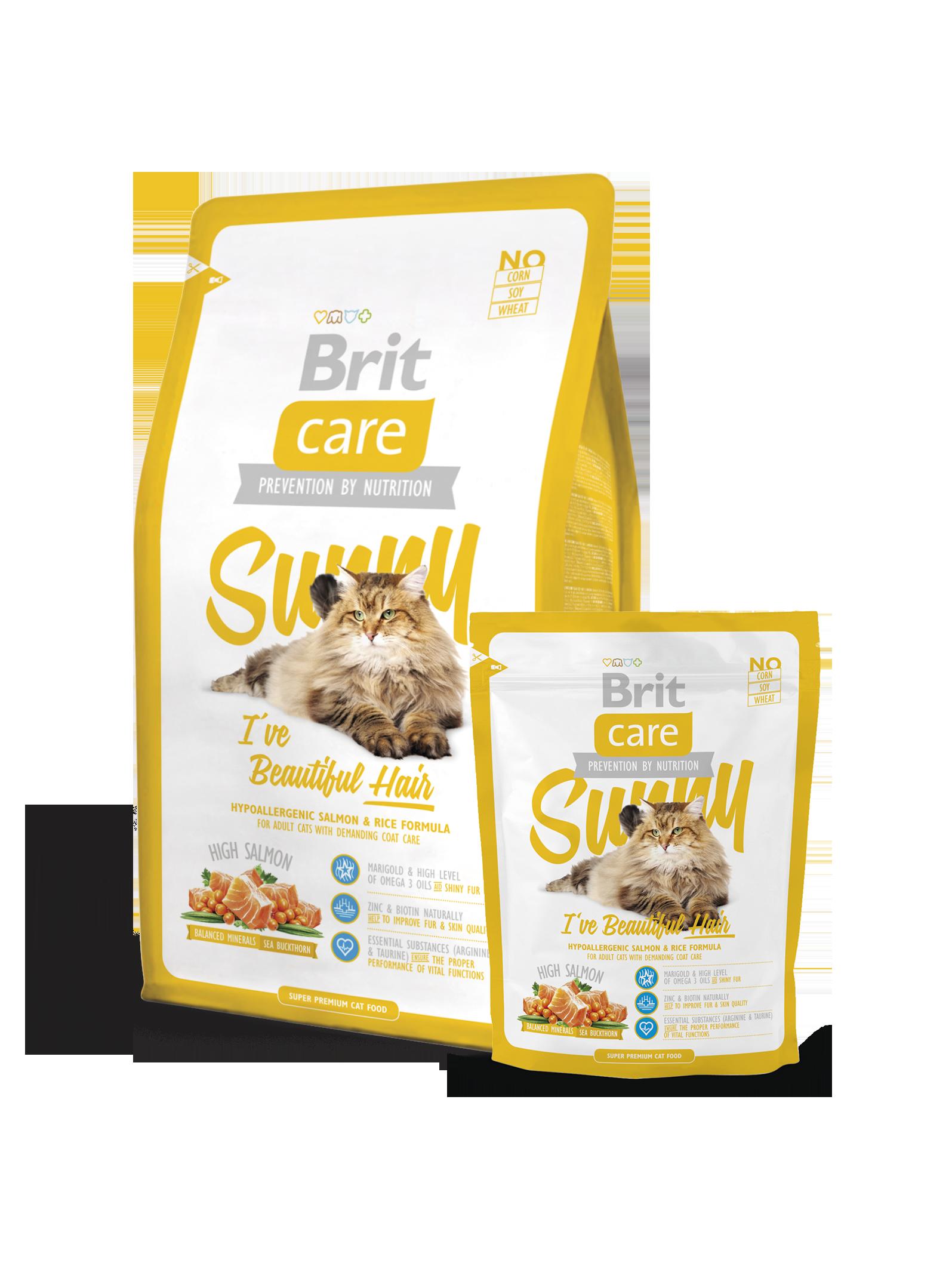 Brit Care Cat Sunny I've Beautiful Hair - Pet Food - Pet Store - Pet supplies
