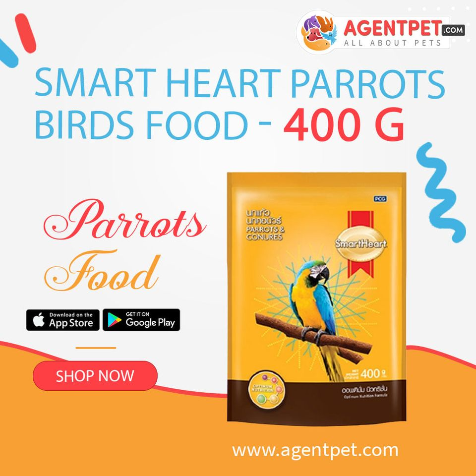 Smart Heart Parrots Birds Food - 400 g - Pet Food - Pet Store - Pet supplies