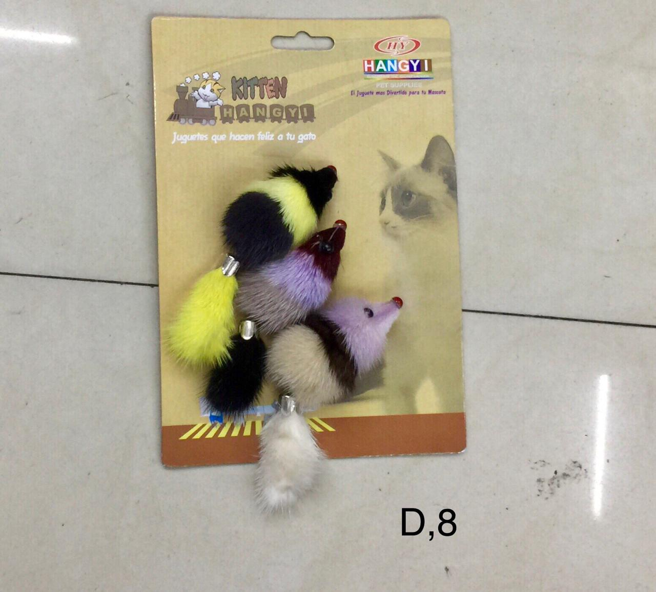 Toy Double Mouses For Cats And Kittens