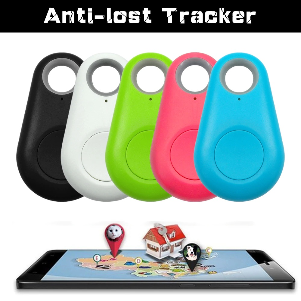 GPS Tracker Mini Anti-Lost Waterproof Bluetooth Locator Tracer For Pet Dog Cat Kids Car