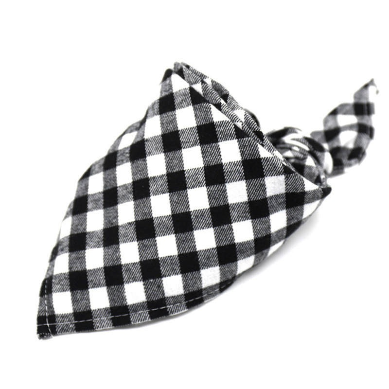Pet Dog Cat Neck Scarf Adjustable Dog Bandana Cotton Plaid Cleaning Towel For Dog Cat Cats Grooming Accessories - Pet Accessories - Pet Store - Pet supplies
