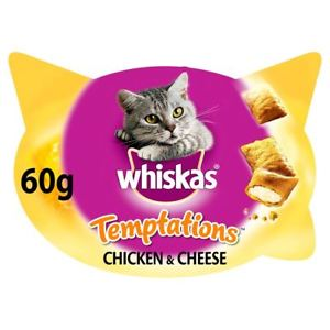 Whiskas Temptations Chicken & Cheese 60G