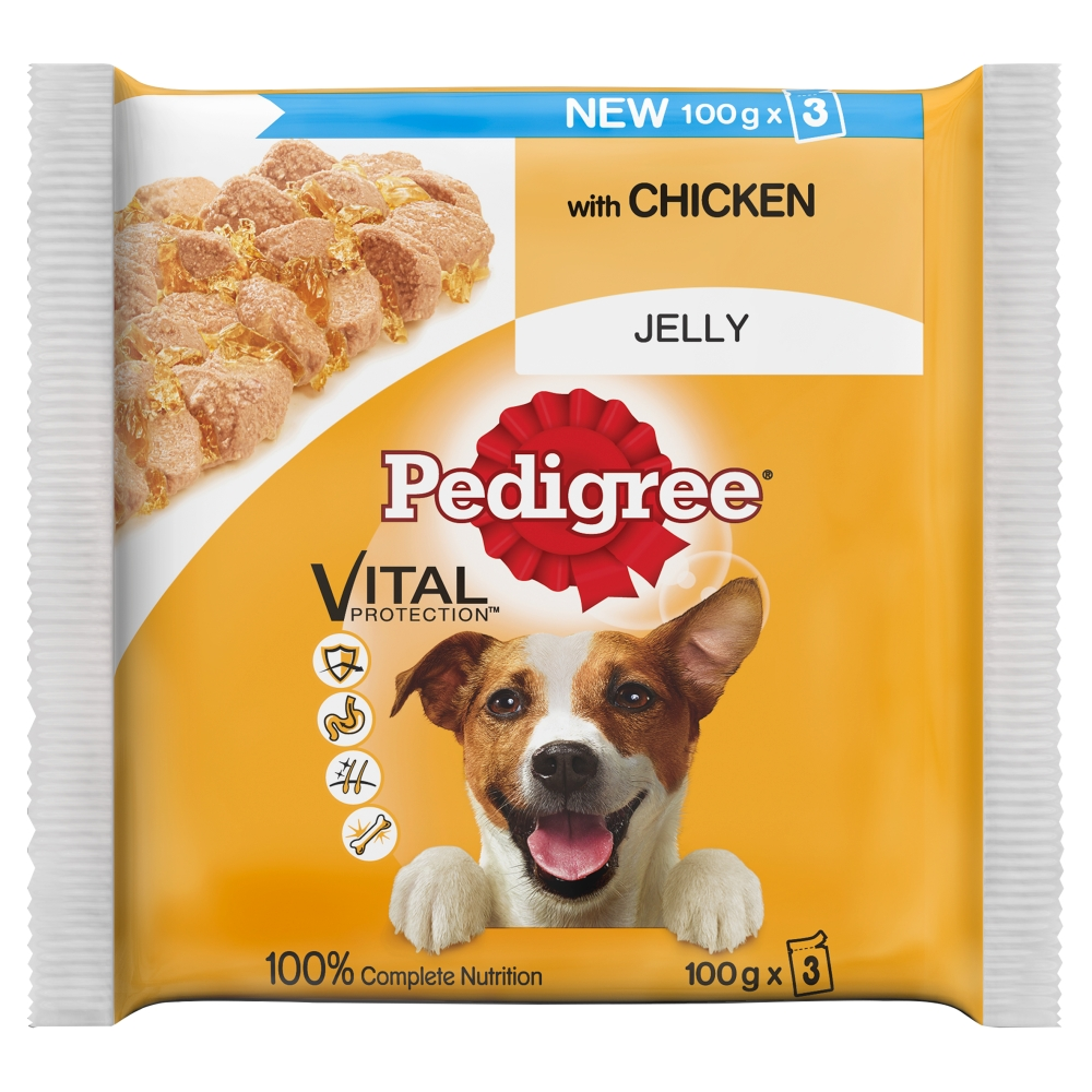 Pedigree Wet Food Pouches Pack of 3