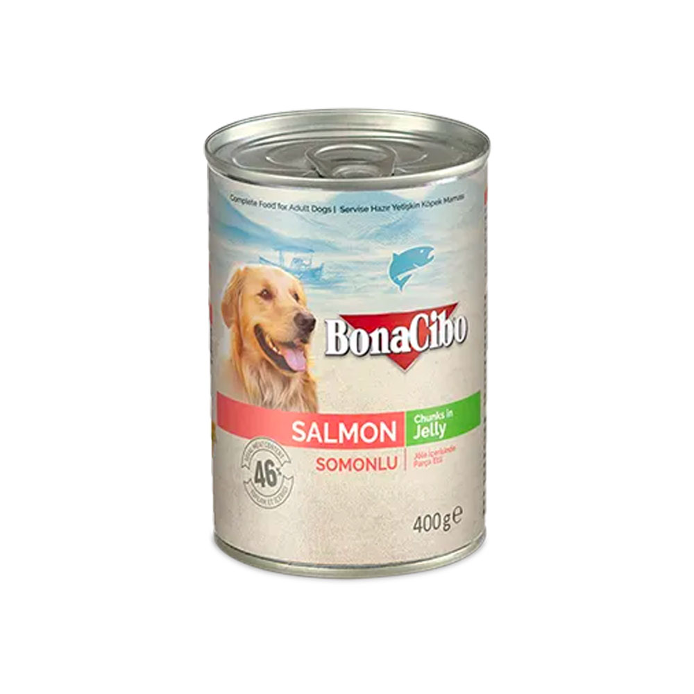 Bonacibo Wet Food for Dogs in Can – Salmon Chunks in Jelly - Pet Food - Pet Store - Pet supplies