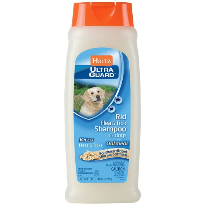 Hartz Rid Flea & Tick Shampoo For Dogs With Oatmeal