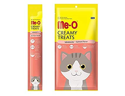 Me-O Creamy Treats Chicken / Liver / Salmon / Bonito / Crab - Pack Of 4 Treats