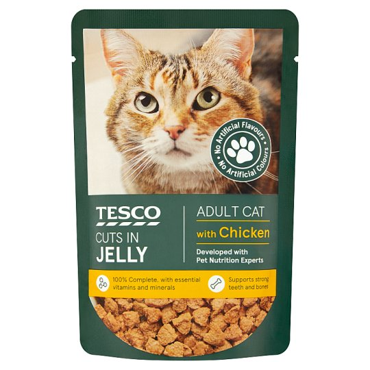 Tesco Cuts In Jelly For Adult Cats 100g