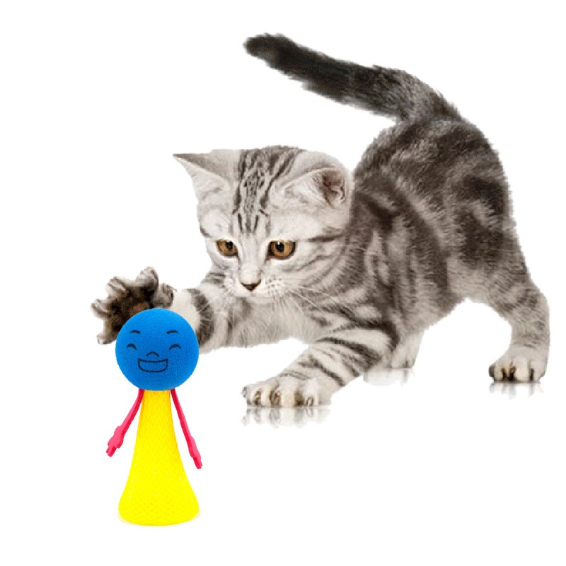 2pcs/set Funny Jumping Cat Toy Pet Cat Bouncing Toy Puppy Kitten Playing Toys Bouncy Balls Toys for Cat Pet Accessories - Pet Accessories - Pet Store - Pet supplies