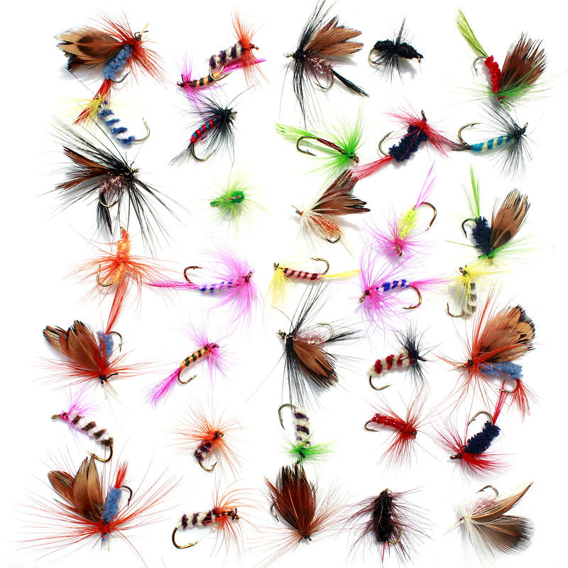 36 pcs Fishing Lure Butter Fly Insects different Style