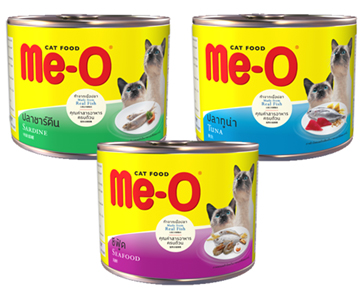 Me-O Cat Food Tin Food Sardine / Seafood / Tuna - Pet Food - Pet Store - Pet supplies