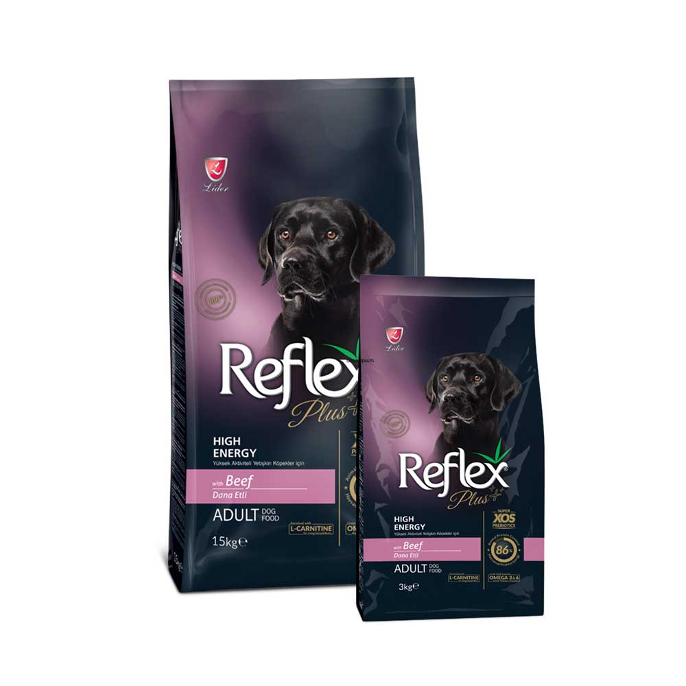 Reflex Plus Adult Dog Food Beef High Energy